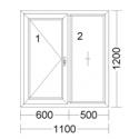 CORA 5 camere 1100[± 5cm] x 1200[± 5cm] batant stanga + fix
