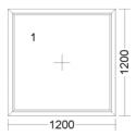 CORA 5 camere 1200[± 5cm] x 1200[± 5cm] fix