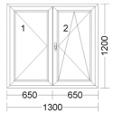 CORA 5 camere 1300[± 5cm] x 1200[± 5cm] inactiv stanga + oscilobatant dreapta