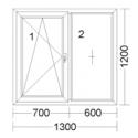 CORA 5 camere 1300[± 5cm] x 1200[± 5cm] fix + oscilobatant dreapta